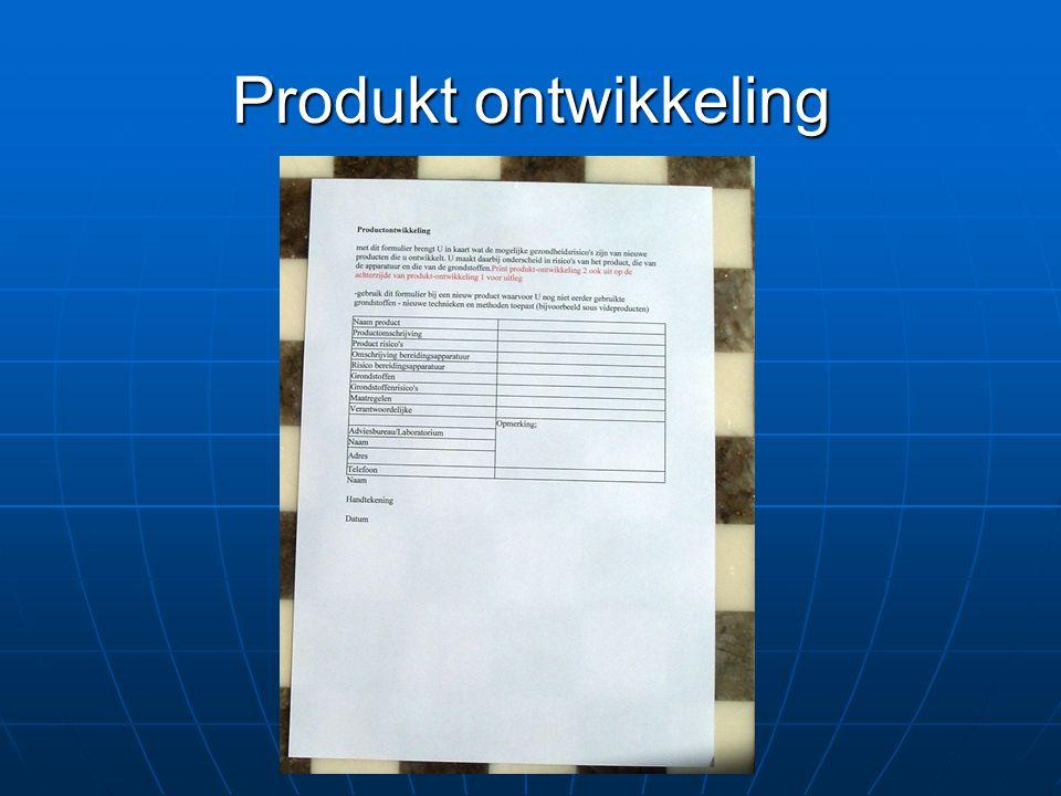 Produkt ontwikkeling