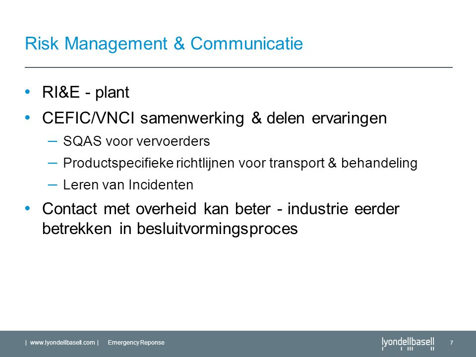 Risk Management & Communicatie