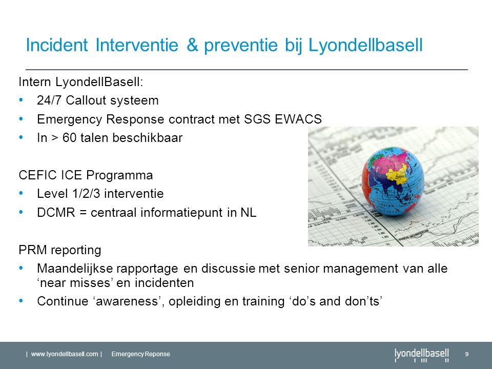 Incident Interventie & preventie bij Lyondellbasell