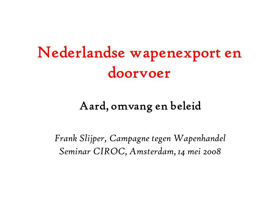 Nederlandse wapenexport en doorvoer