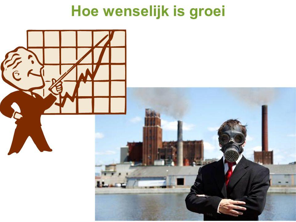 Hoe wenselijk is groei Het NBP groeit: de productie en consumptie van goederen en diensten.
