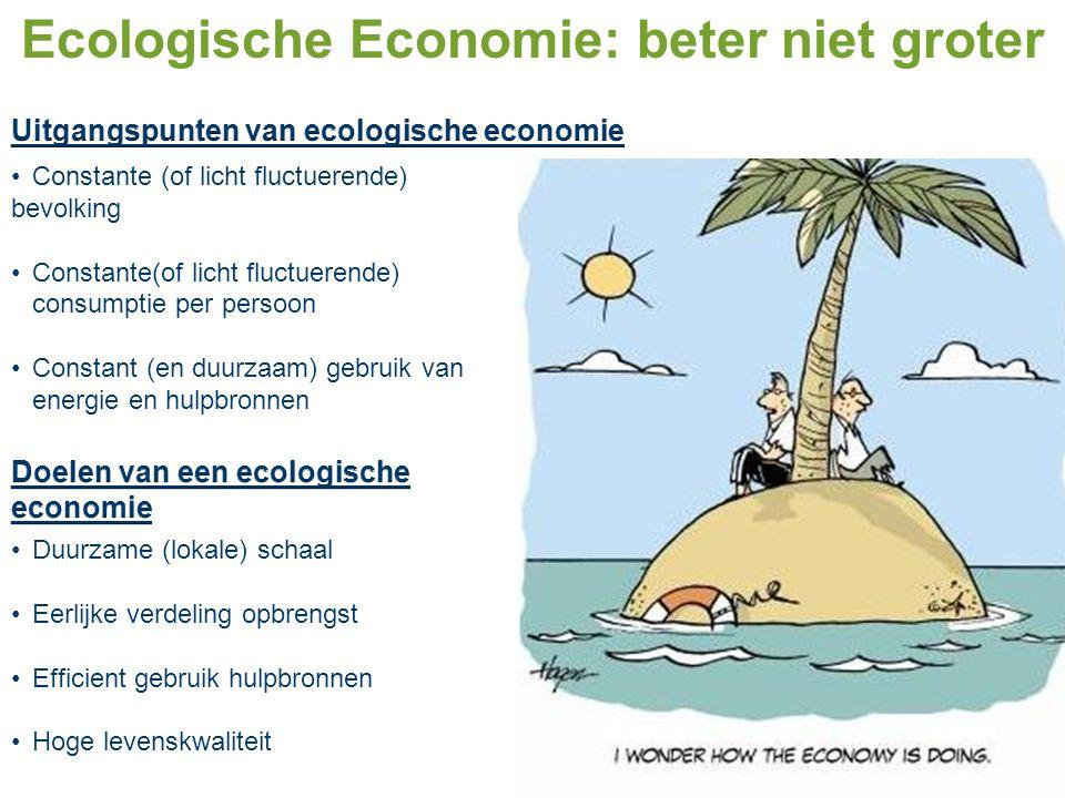 Ecologische Economie: beter niet groter