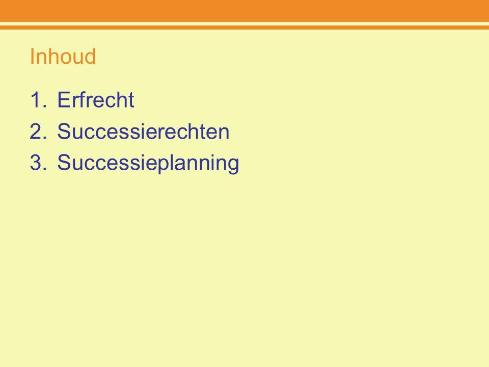 Inhoud Erfrecht Successierechten Successieplanning