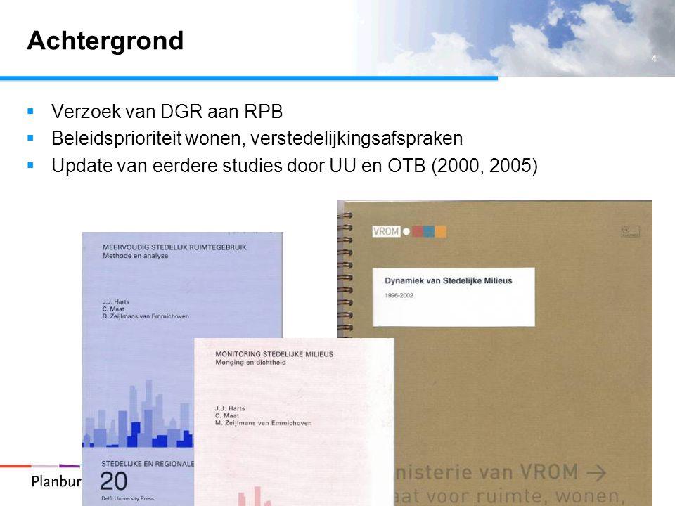 Achtergrond Verzoek van DGR aan RPB