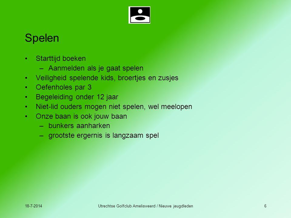 Utrechtse Golfclub Amelisweerd / Nieuwe jeugdleden