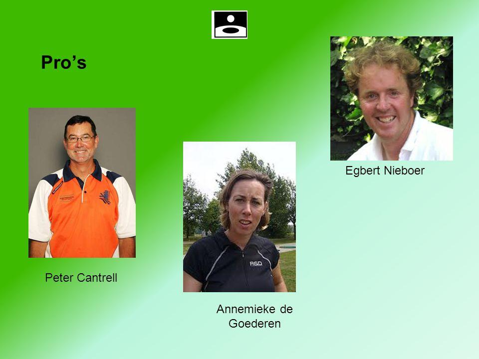 Pro's Egbert Nieboer Peter Cantrell Annemieke de Goederen