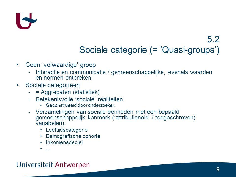 5.3 Sociale netwerken Een georganiseerd geheel van posities en relaties. Kanalen die verschillende sociale plekken verbinden.