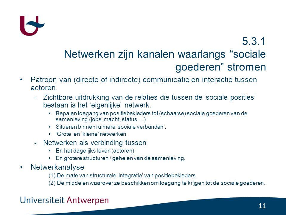 5.3.2 Kenmerken van netwerken