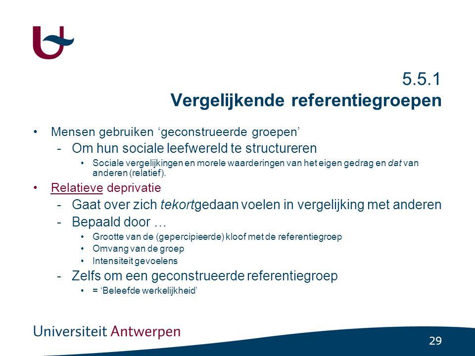 5.5.2 Normatieve referentiegroepen
