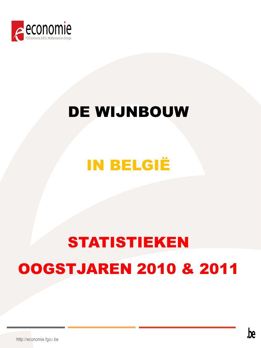 DE WIJNBOUW IN BELGIË STATISTIEKEN OOGSTJAREN 2010 & 2011