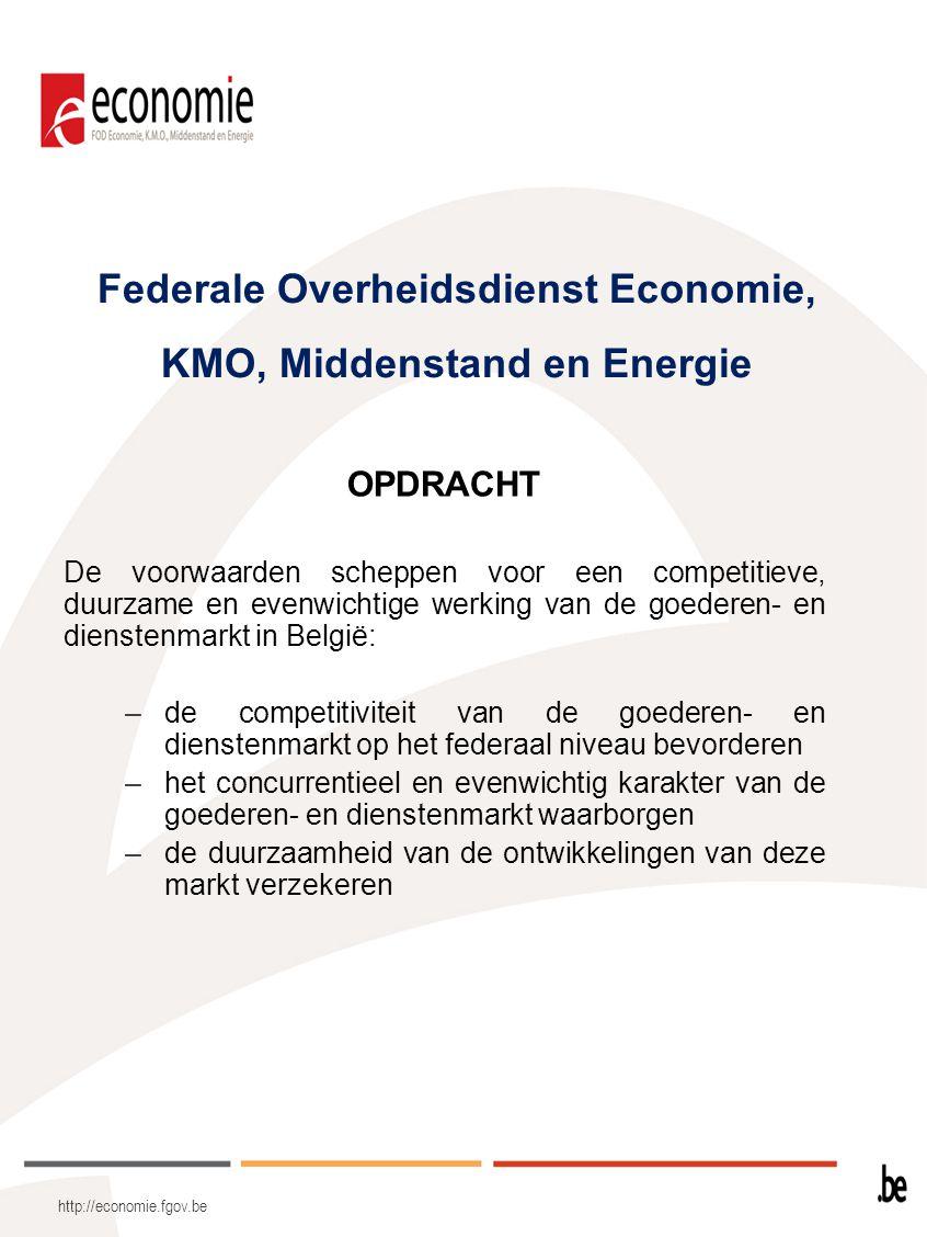 Federale Overheidsdienst Economie, KMO, Middenstand en Energie
