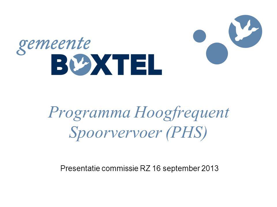 Programma Hoogfrequent Spoorvervoer (PHS)
