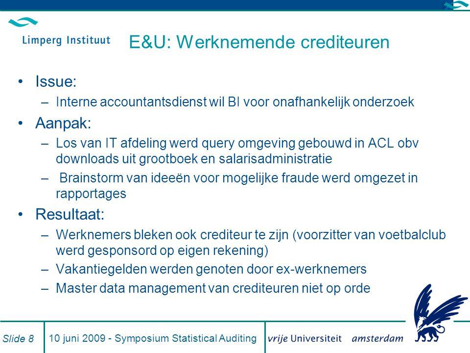 E&U: Werknemende crediteuren