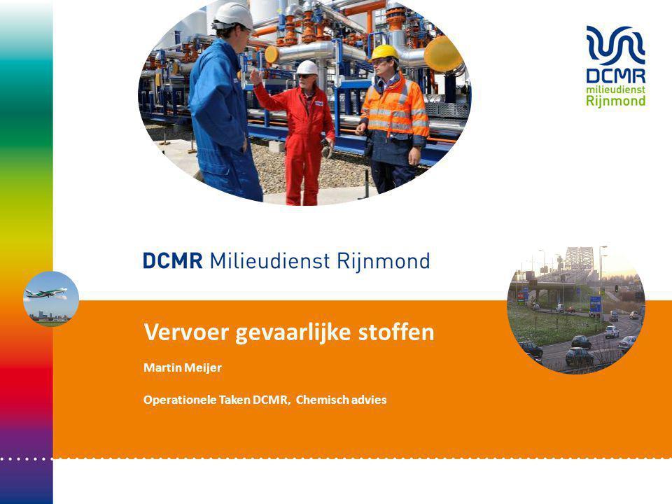 Vervoer gevaarlijke stoffen Martin Meijer Operationele Taken DCMR, Chemisch advies