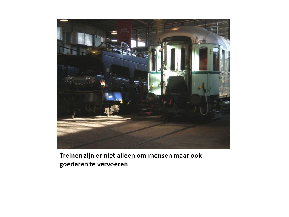 Treinen zijn er niet alleen om mensen maar ook goederen te vervoeren