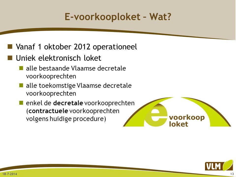 E-voorkooploket – Wat Vanaf 1 oktober 2012 operationeel