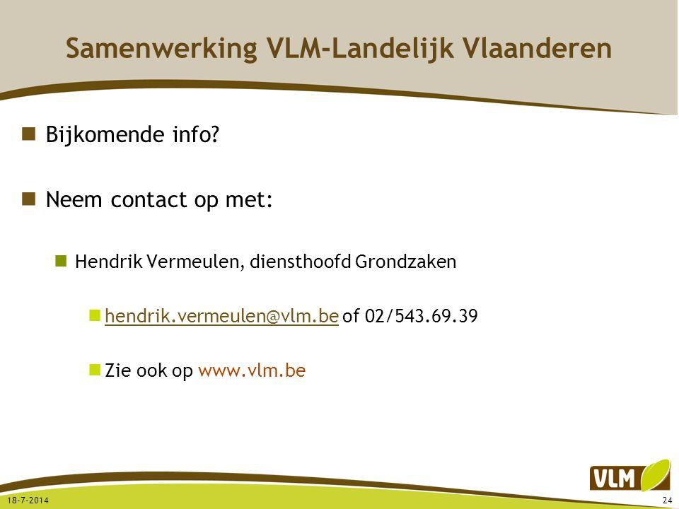 Samenwerking VLM-Landelijk Vlaanderen
