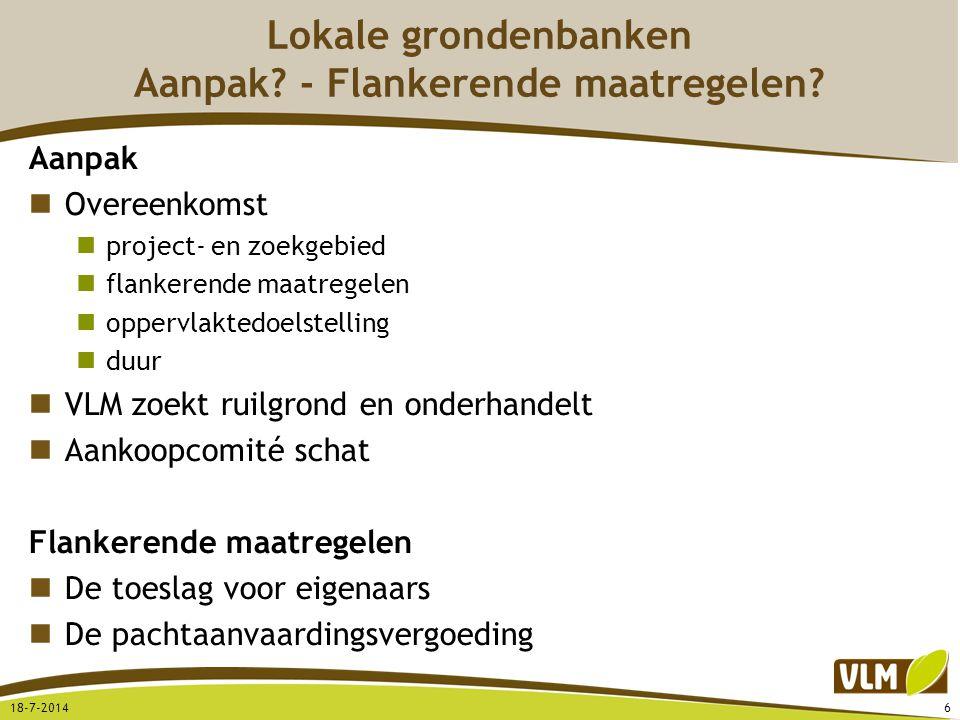 Lokale grondenbanken Aanpak - Flankerende maatregelen