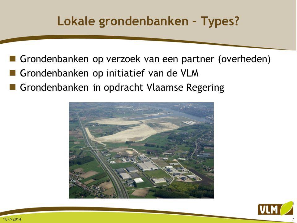 Lokale grondenbanken – Types