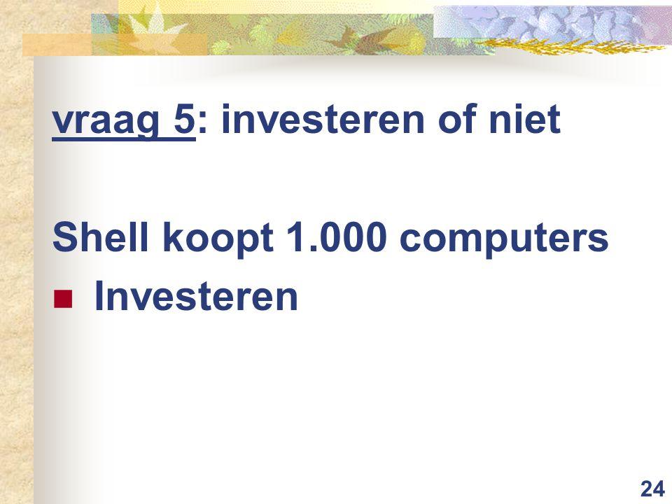 vraag 5: investeren of niet