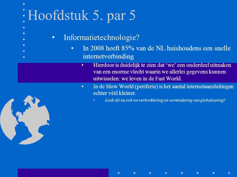 Hoofdstuk 5. par 5 Informatietechnologie