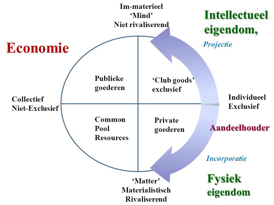 Economie Intellectueel eigendom, Fysiek eigendom Aandeelhouder