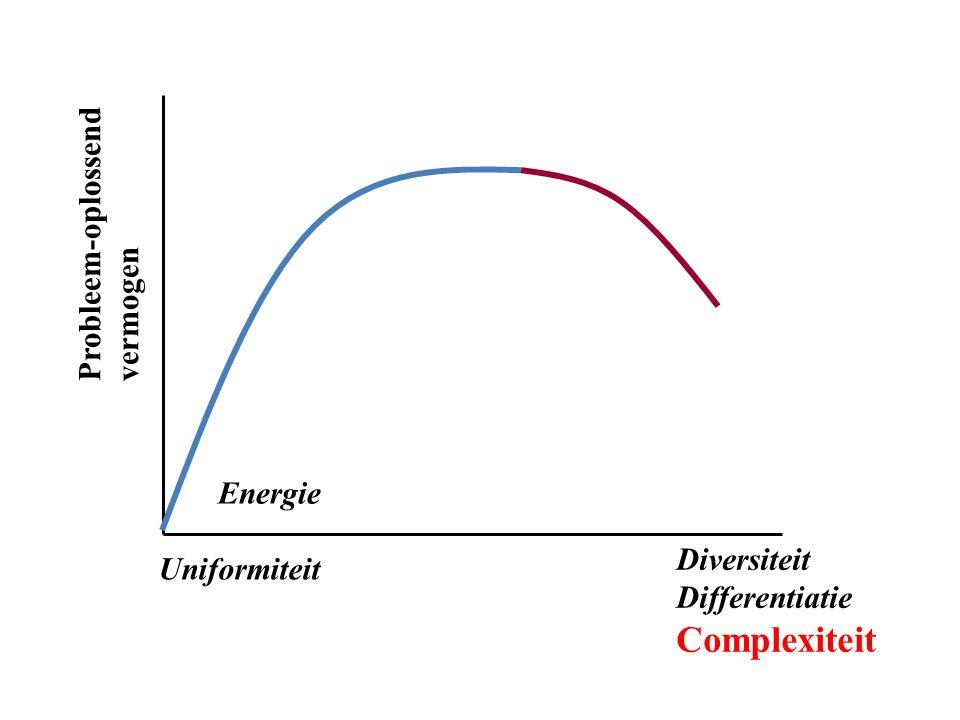 Complexiteit Probleem-oplossend vermogen Energie Diversiteit