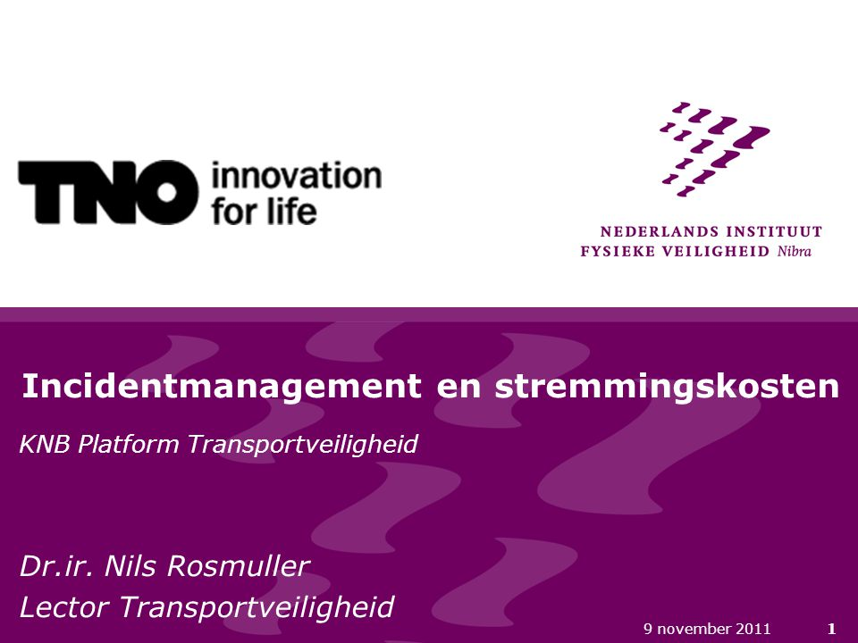 Incidentmanagement en stremmingskosten