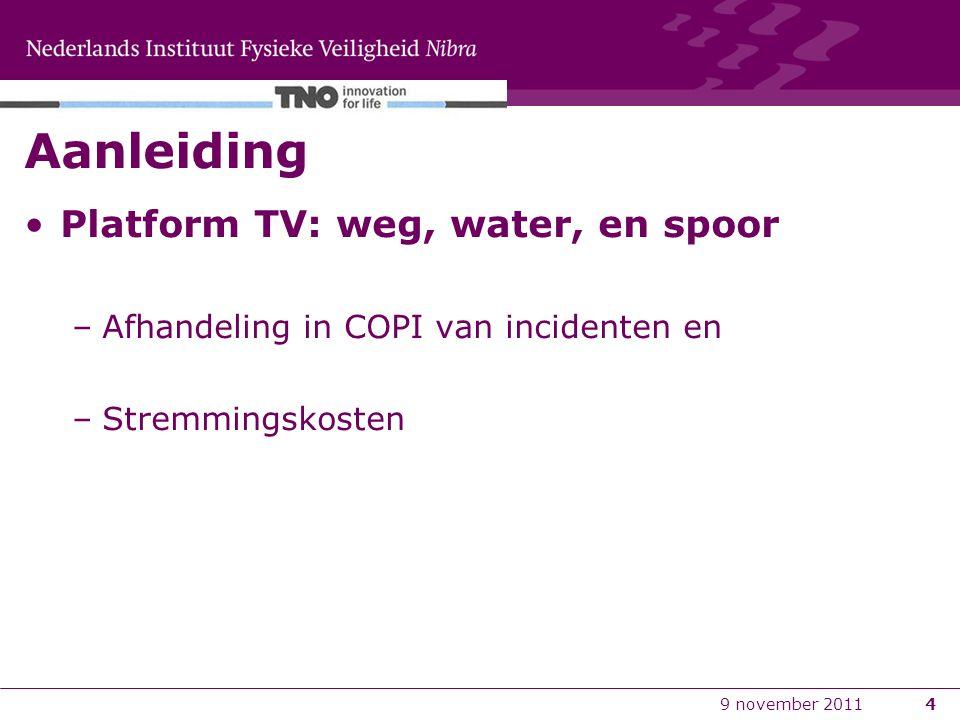 Aanleiding Platform TV: weg, water, en spoor