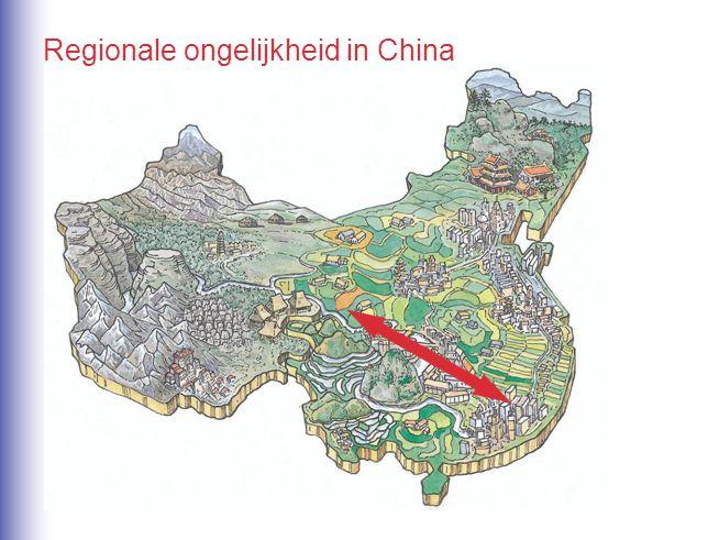 Regionale ongelijkheid in China