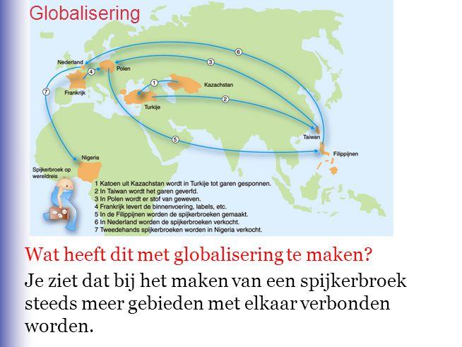 Globalisering Wat heeft dit met globalisering te maken
