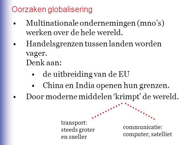 Oorzaken globalisering