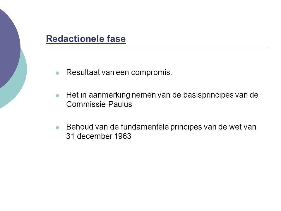 Redactionele fase Resultaat van een compromis.