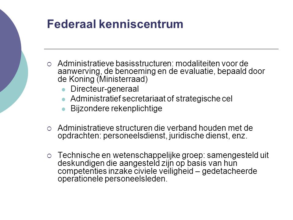 Federaal kenniscentrum