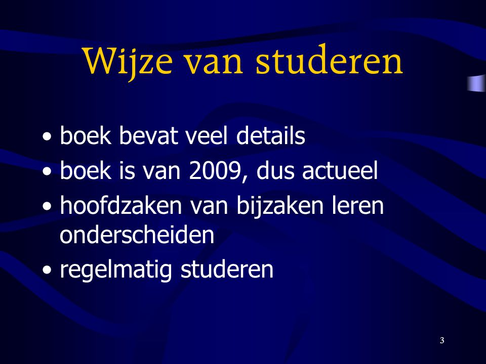 Wijze van studeren boek bevat veel details