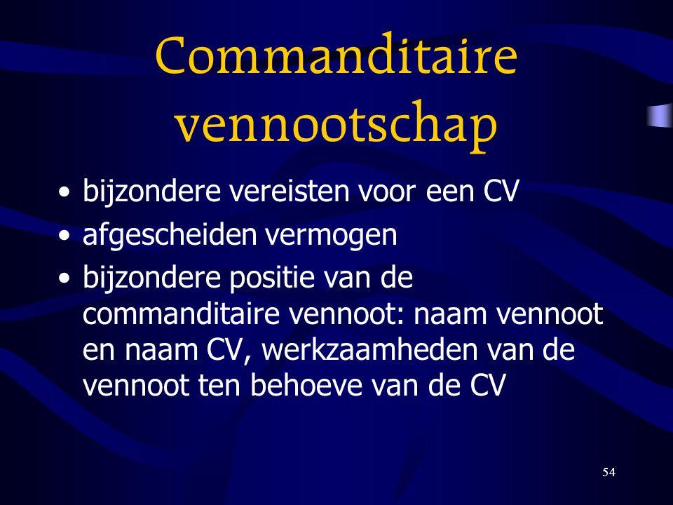 Commanditaire vennootschap