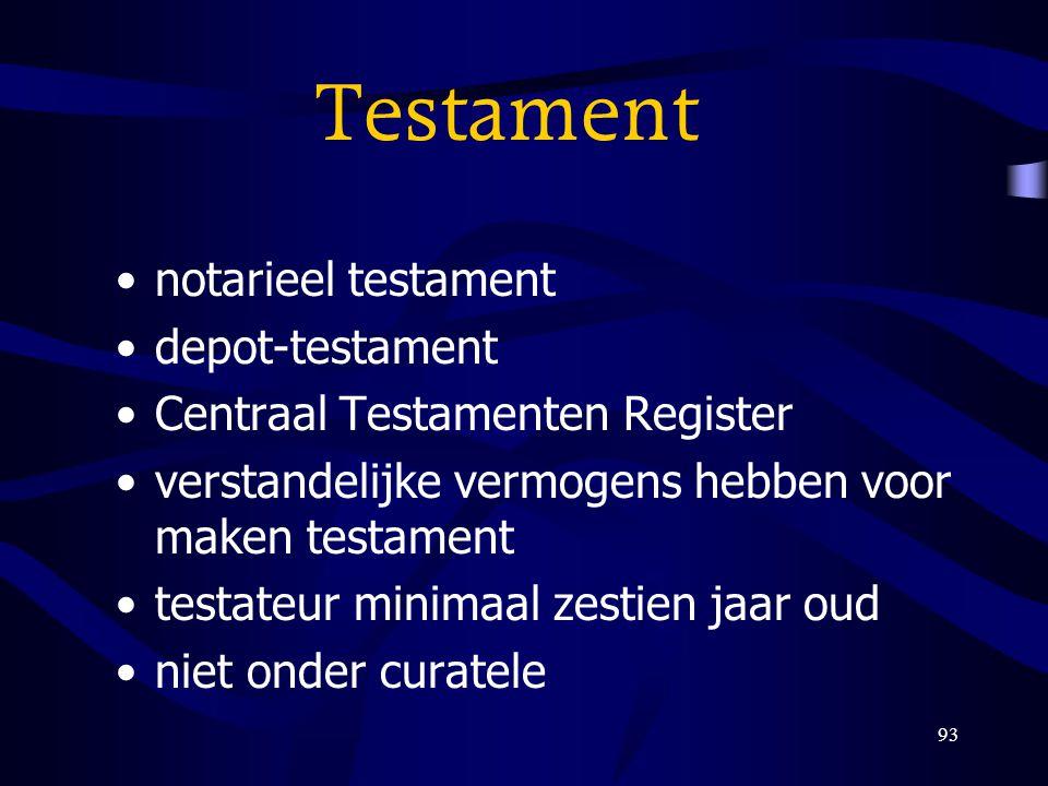 Testament notarieel testament depot-testament