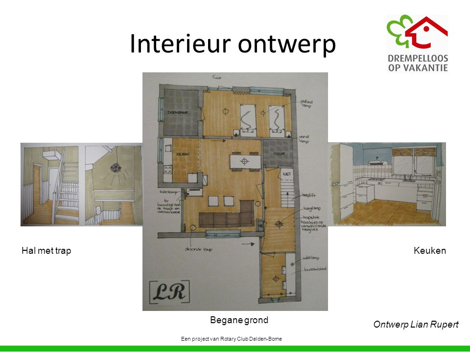 Interieur ontwerp Hal met trap Keuken Begane grond Ontwerp Lian Rupert