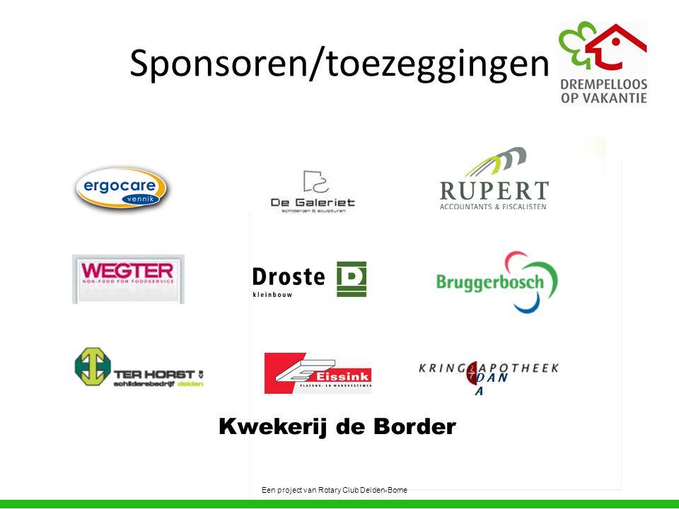 Sponsoren/toezeggingen