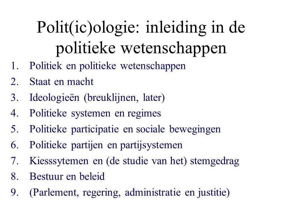 Polit(ic)ologie: inleiding in de politieke wetenschappen
