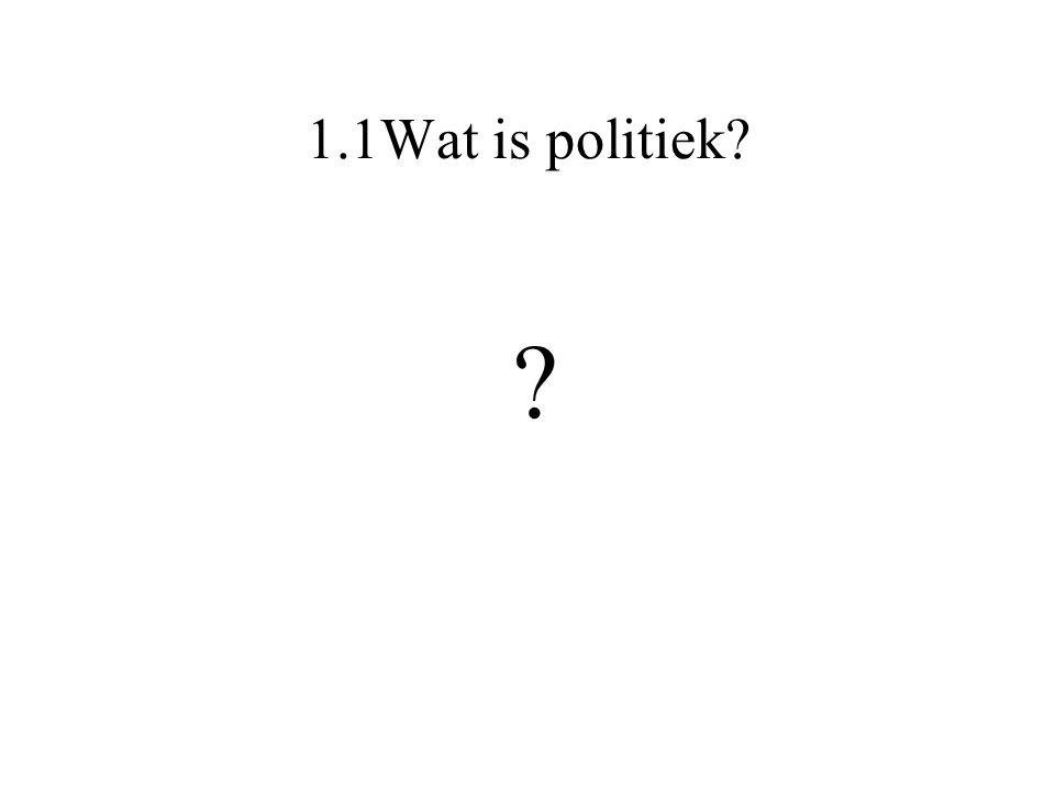 1.1Wat is politiek