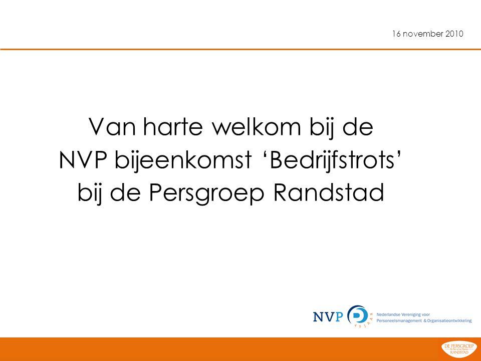 NVP bijeenkomst 'Bedrijfstrots' bij de Persgroep Randstad