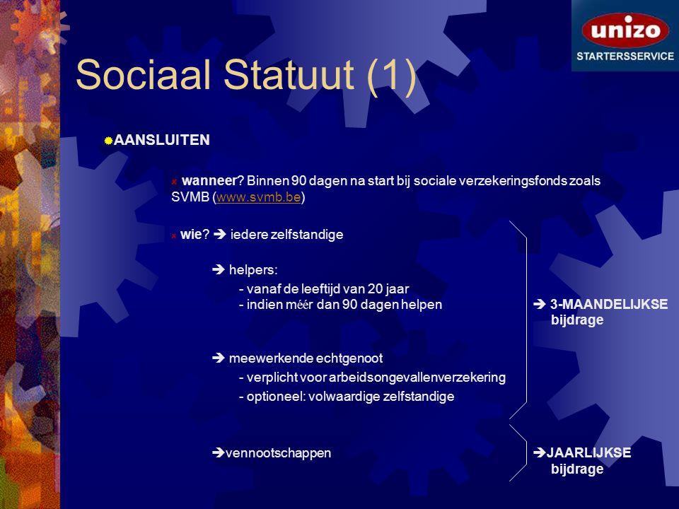 Sociaal Statuut (1) AANSLUITEN