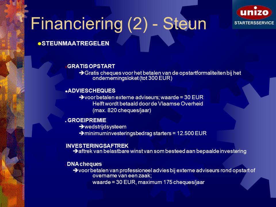 Financiering (2) - Steun