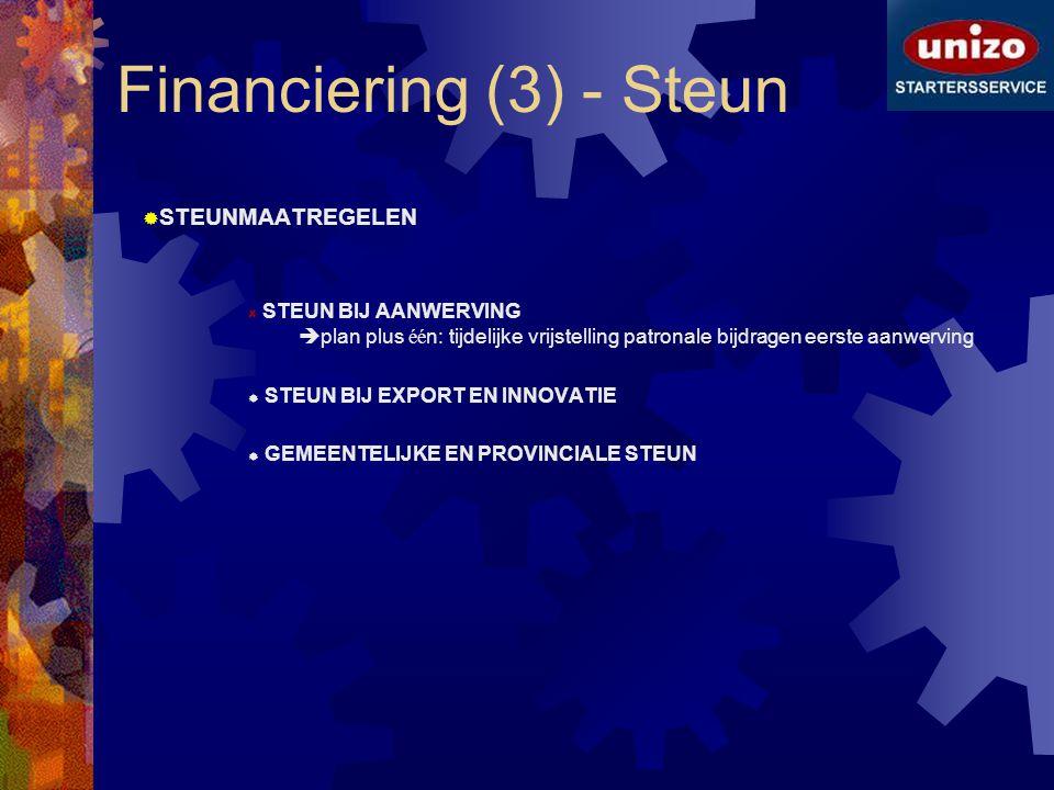 Financiering (3) - Steun
