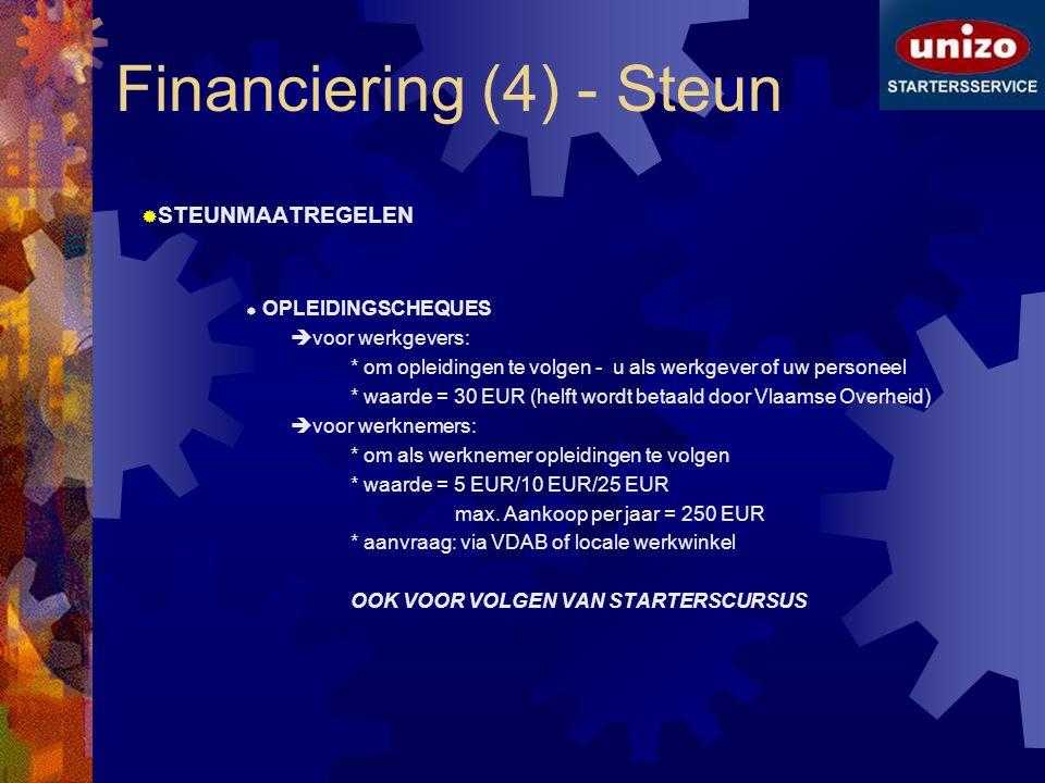 Financiering (4) - Steun