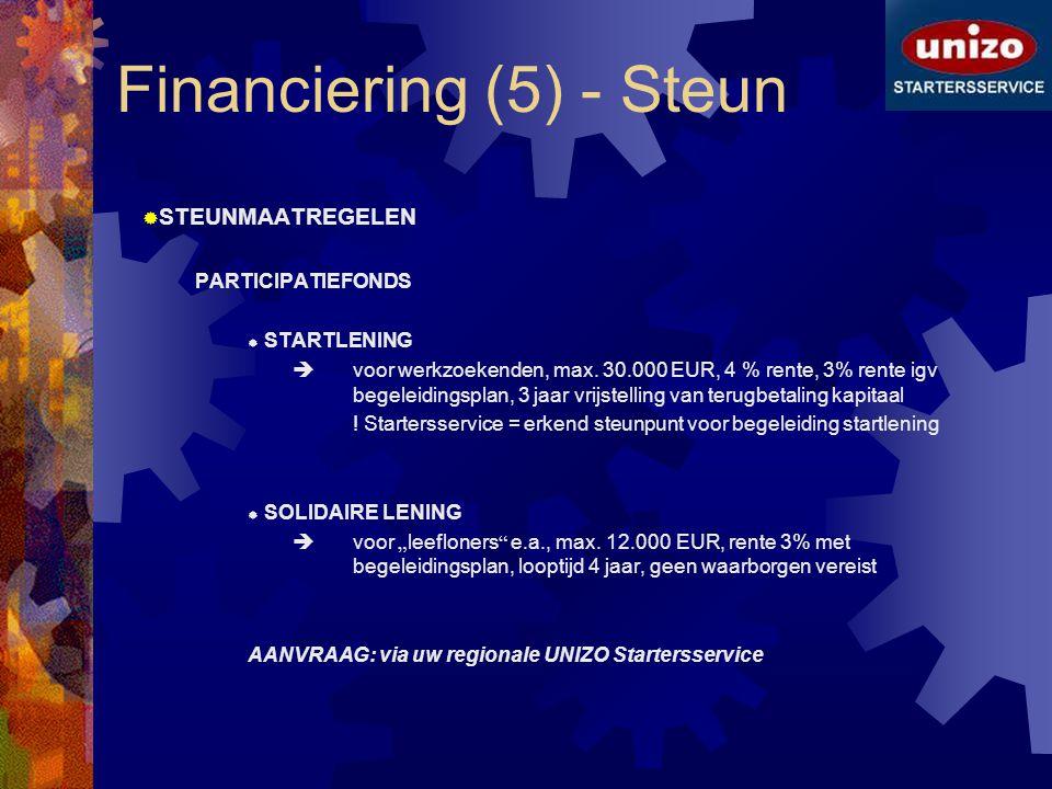 Financiering (5) - Steun