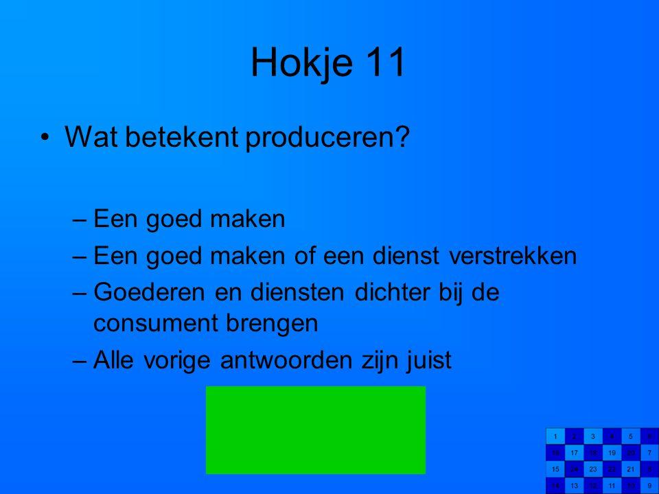 Hokje 11 Wat betekent produceren Een goed maken