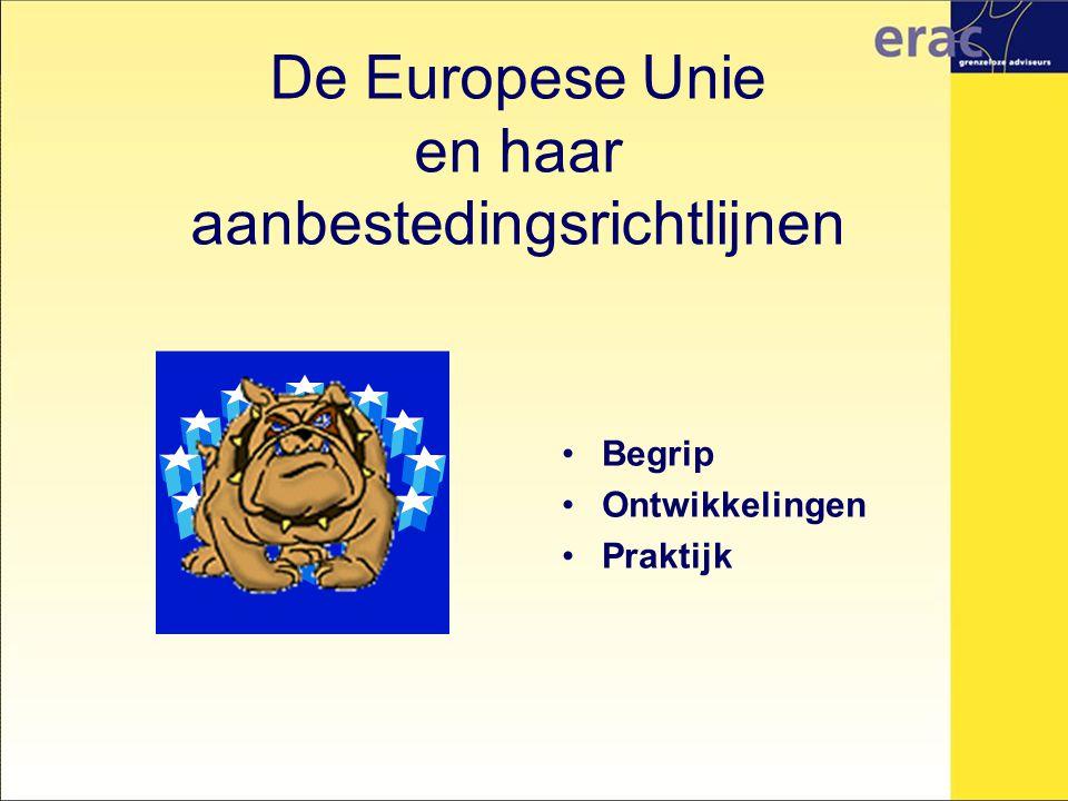 De Europese Unie en haar aanbestedingsrichtlijnen