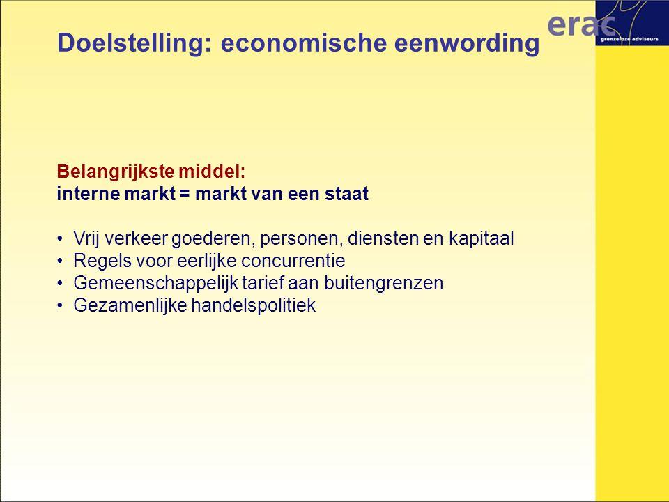 Doelstelling: economische eenwording